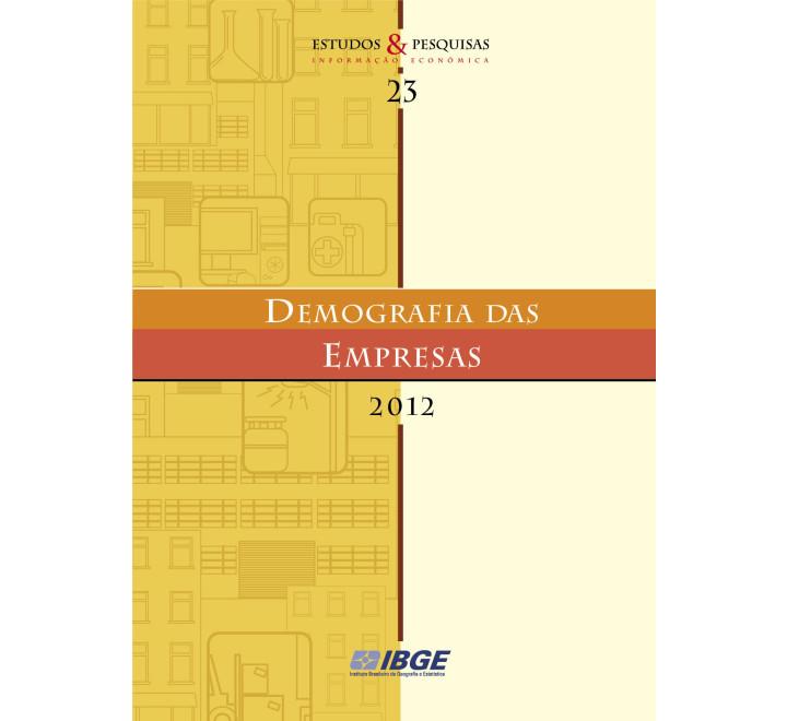 Demografia das Empresas 2012