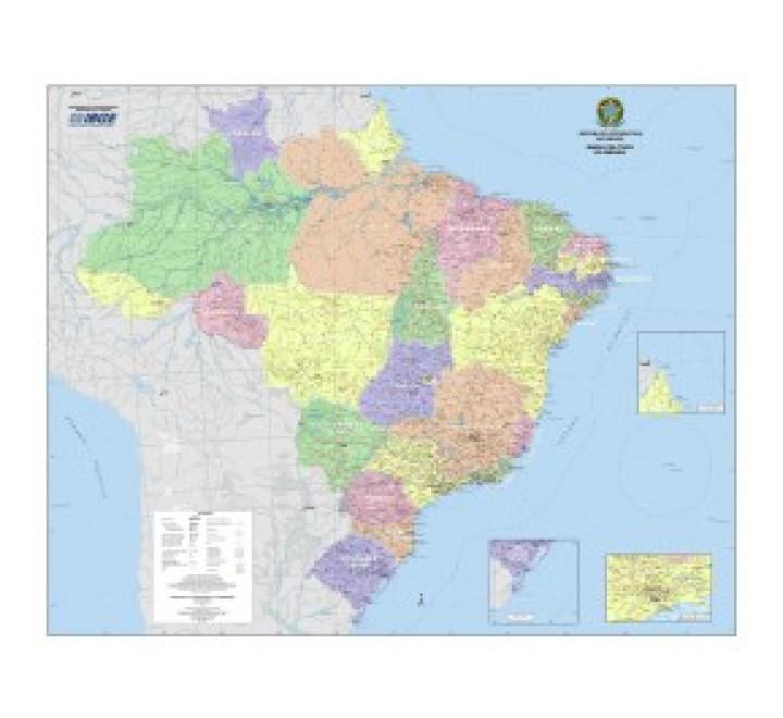 Mapa do Brasil Político 2014 - Quadrante