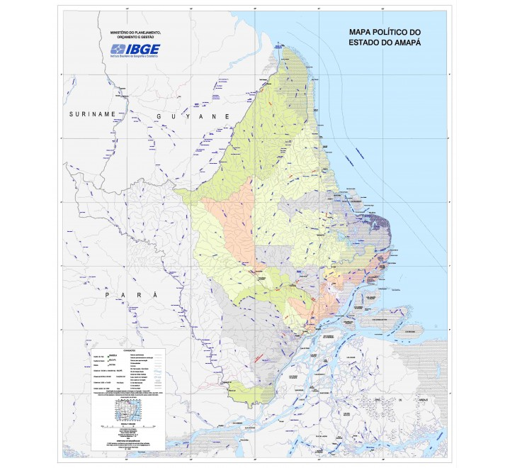 Mapas Estaduais da Amazônia Legal - Mapa Político do Estado do Amapá