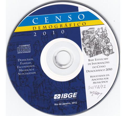 Base Estatcart de Informações do Censo Demográfico 2010: Domicílios, Famílias, Fecundidade, Migração e nupcialidade - Resultados da amostra