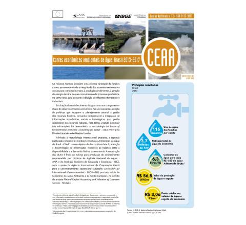 Contas Econômicas Ambientais da Água Brasil 2013-2017