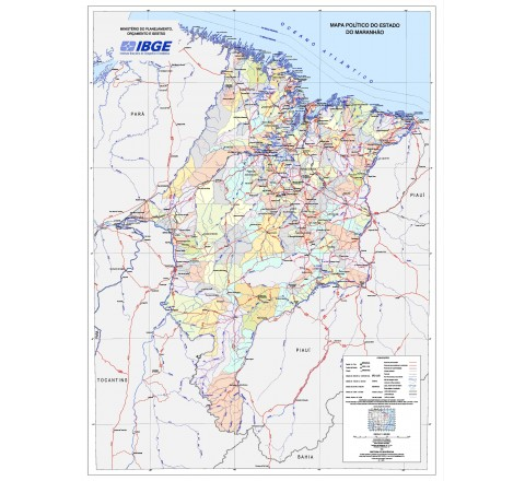 Mapas Estaduais da Amazônia Legal - Mapa Político do Estado do Maranhão