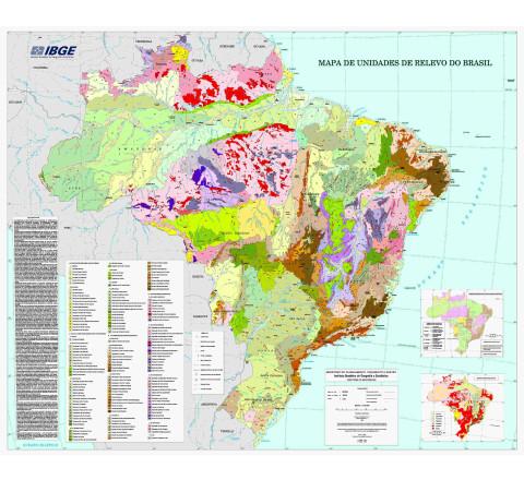 Mapa de unidades de relevo do Brasil