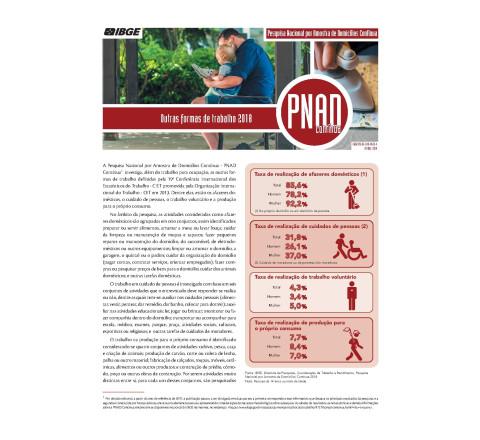 PNAD Contínua - Outras Formas de Trabalho 2018