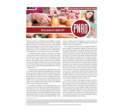 PNAD Contínua - Outras Formas de Trabalho 2017