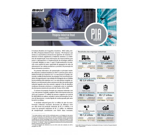 Pesquisa Industrial 2018 - Empresa